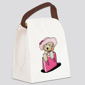Girlie Doodle Canvas Lunch Bag