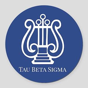 Tau Beta Sigma Logo Round Car Magnet