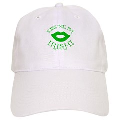 Green Smooch Kiss Me I'm Irish Baseball Cap