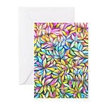 Pastel Leaves 1 Greeting Cards