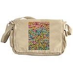 Pastel Leaves 1 Messenger Bag