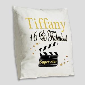 FABULOUS 16TH Burlap Throw Pillow