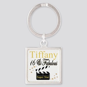 FABULOUS 16TH Square Keychain