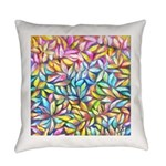 Pastel Leaves 1 Everyday Pillow