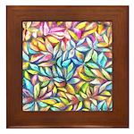 Pastel Leaves 1 Framed Tile