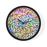 Pastel Leaves 1 Wall Clock