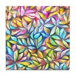 Pastel Leaves 1 Tile Coaster