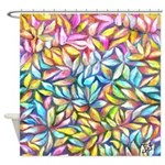 Pastel Leaves 1 Shower Curtain