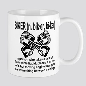 Biker (n) Definition Mug