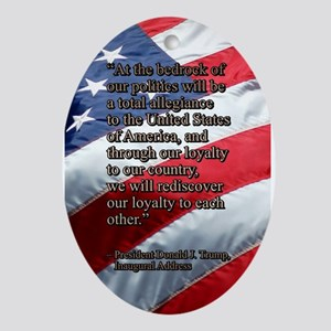 PRES45 TOTAL ALLEGIANCE Oval Ornament