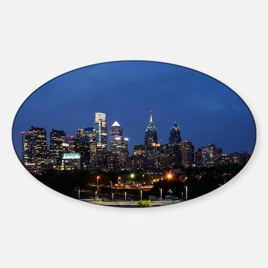 Philadelphia cityscape skyline view Decal