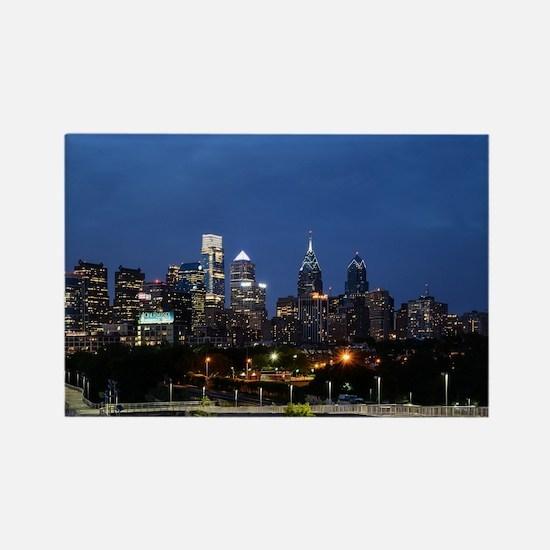 Philadelphia cityscape skyline view Magnets