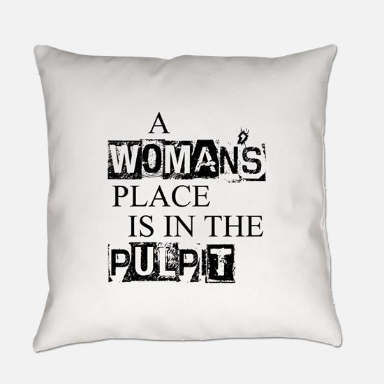 Cute Pastor Everyday Pillow