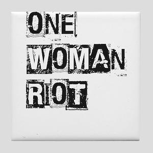One Woman Riot Tile Coaster