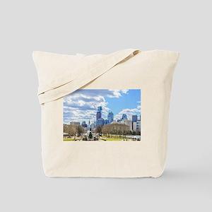 Philadelphia cityscape skyline view Tote Bag