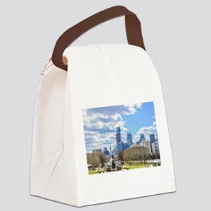 Philadelphia cityscape skyline vi Canvas Lunch Bag