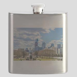 Philadelphia cityscape skyline view Flask
