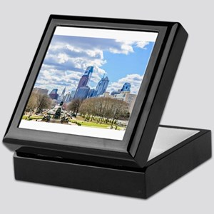 Philadelphia cityscape skyline view Keepsake Box
