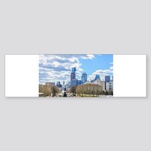 Philadelphia cityscape skyline view Bumper Sticker