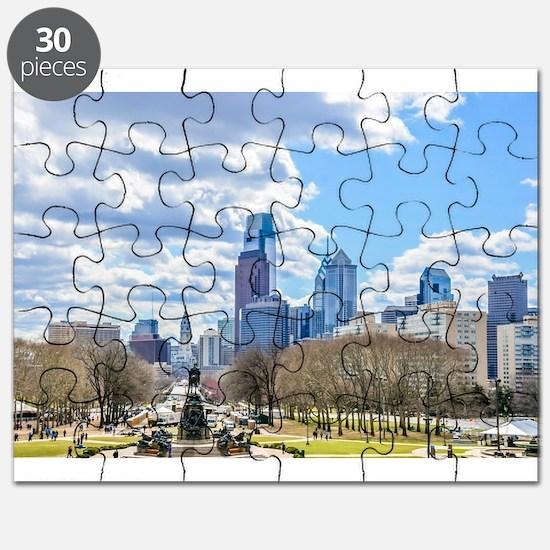 Philadelphia cityscape skyline view Puzzle