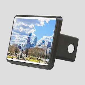 Philadelphia cityscape sky Rectangular Hitch Cover