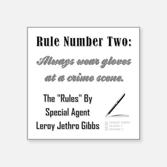 RULE NO. 2 Sticker