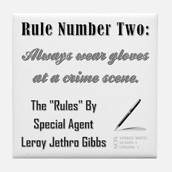 RULE NO. 2 Tile Coaster