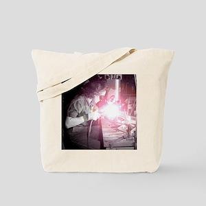 Vintage Woman Welder Tote Bag