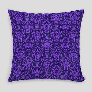 Violet Ornamental Flower & Vines Everyday Pillow