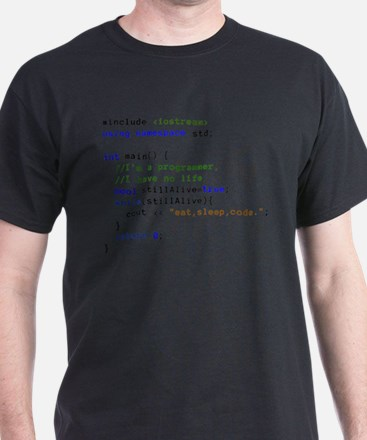 Programmer's life: Eat, Sleep, and Code re T-Shirt
