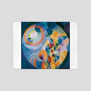 Circular forms - Sun and Moon 5'x7'Area Rug