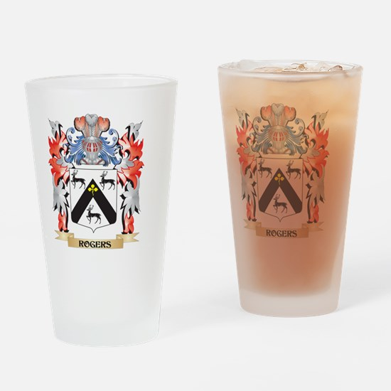 Rogers Coat of Arms - Family Crest Drinking Glass