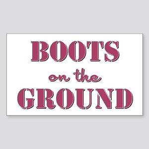 BOOTS on the GROUND Sticker (Rectangle)