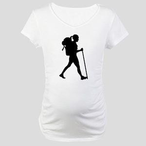 Hiking girl woman Maternity T-Shirt