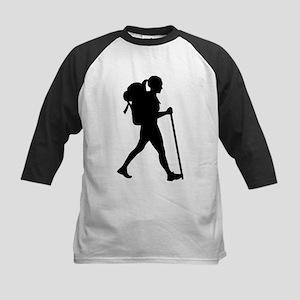 Hiking girl woman Baseball Jersey