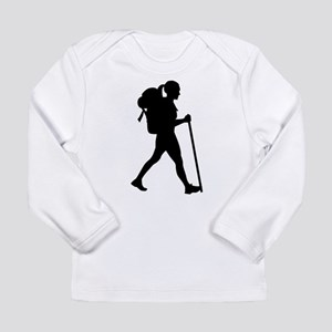 Hiking girl woman Long Sleeve T-Shirt