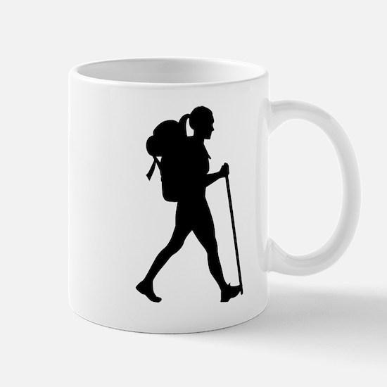 Hiking girl woman Mugs