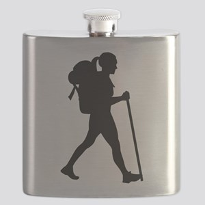 Hiking girl woman Flask