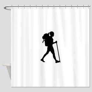 Hiking girl woman Shower Curtain