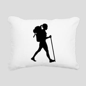 Hiking girl woman Rectangular Canvas Pillow