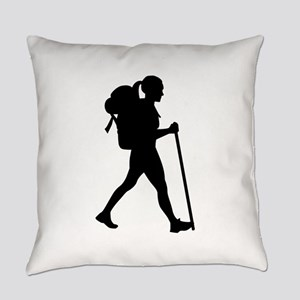 Hiking girl woman Everyday Pillow