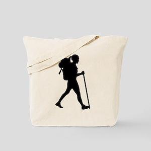 Hiking girl woman Tote Bag