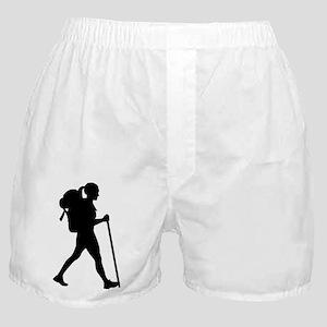 Hiking girl woman Boxer Shorts