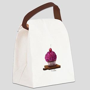 Love Cupcake Canvas Lunch Bag