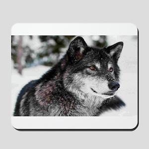 Black Wolf Mousepad