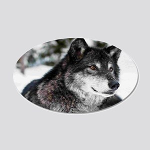 Black Wolf Wall Decal
