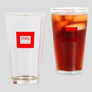 Fake News T-shirt. Drinking Glass
