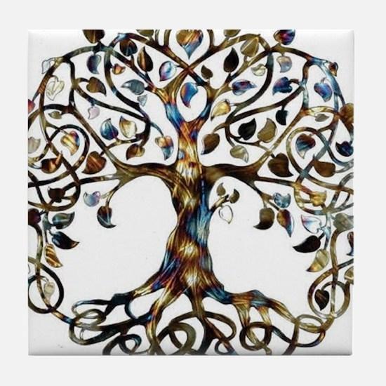 Brown_Tree_Of_Life Tile Coaster