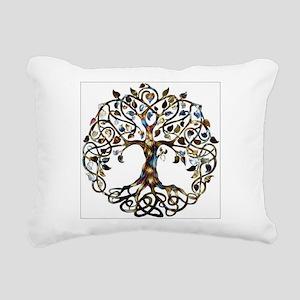 Brown_Tree_Of_Life Rectangular Canvas Pillow