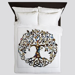 Brown_Tree_Of_Life Queen Duvet